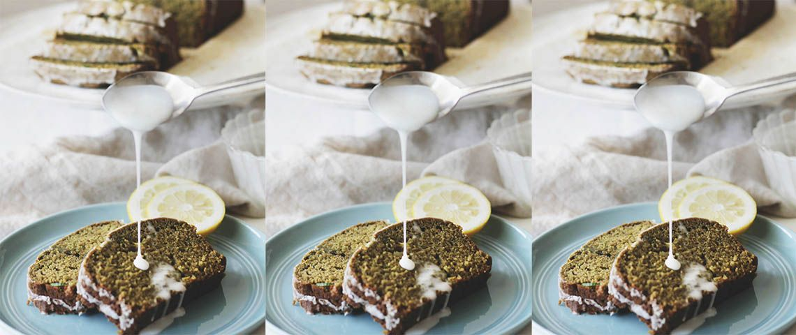 Bake vegan lemon zucchini bread for a treat that's packed with fiber, Vitamin C, and Vitamin B12.