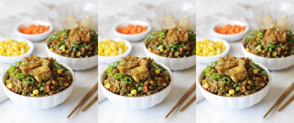 Chlorella Vegan Fried Rice