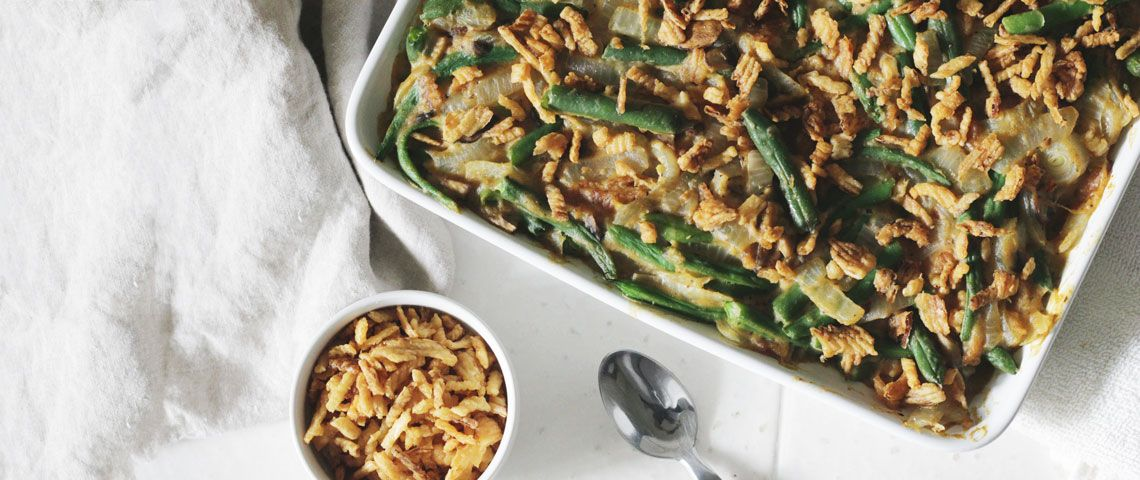 Vegan Holiday Green Bean Casserole with Chlorella