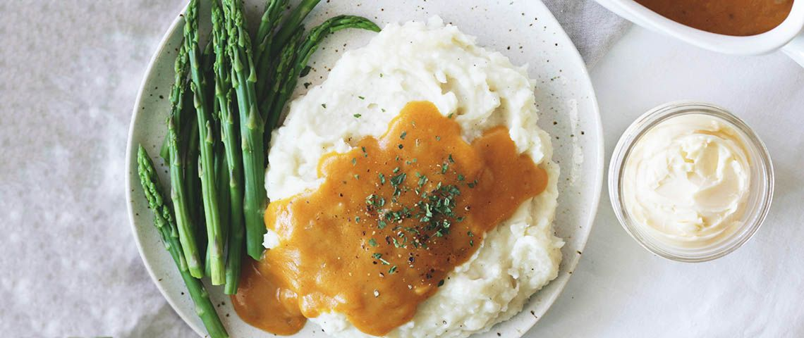 This easy vegan gravy recipe gravy is perfect for Thanksgiving or any holiday meal.